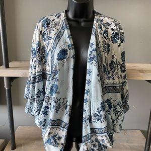 UO Kimchi Blue Floral Paisley Kimono Wrap Size M/L